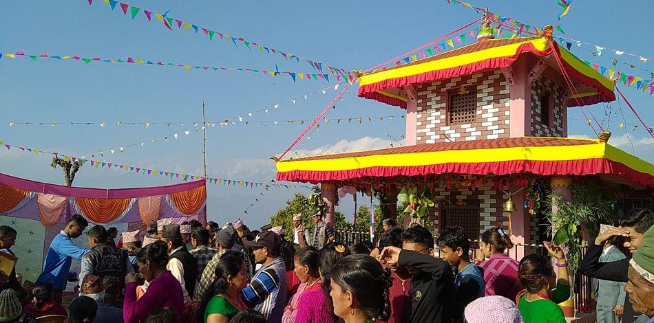 गोरखामा प्रसिद्ध श्री अकला देवी मंदिरको भव्य पुनर्निर्माण