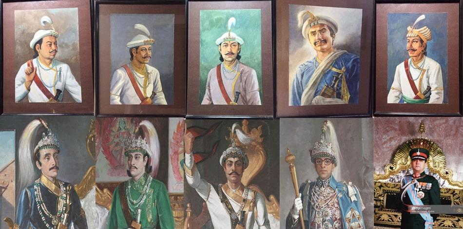 नेपाल अधिराज्यका २१ शाह राजाहरु